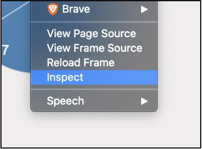 عمل inspect في المتصفح